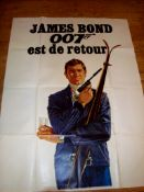 "ON HER MAJESTY'S SECRET SERVICE (1969) French Double Grande (47"" x 124""). Superb full length artwork"