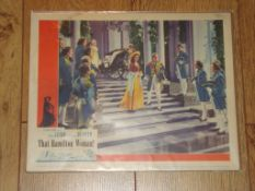 """THAT HAMILTON WOMAN! (1941) (Vivien Leigh and Lawrence Olivier) - US Lobby Card (11"""" x 14"""")(no"""