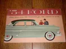 AUTOMOBILIA - A 1954 Ford Range Brochure