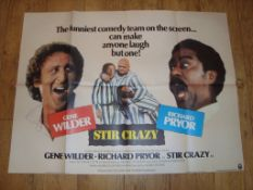 "STIR CRAZY (1980) UK Quad (30"" x 40"") Folded Film Poster"