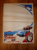 COFRANC MOTOR OIL (1950S)- Advertising poster - blank area for overprinting by local dealer /