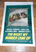 """NIGHT MY NUMBER CAME UP (1955) UK One Sheet (27"""" x 40"""") Stone litho art for this Ealing Drama."""