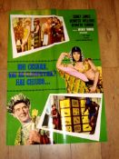 "CARRY ON CLEO (1964) Italian Foglio (25"" x 37"") Folded"