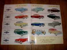 AUTOMOBILIA - A 1954 Chevrolet fold out poster brochure - double sided