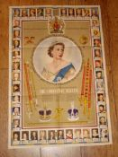 "A CORONATION SOUVENIR POSTER (1953) produced by National Savings UK (30"" x 20"" approx portrait)"