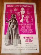 "SPIRITS OF THE DEAD (1969) (Brigitte Bardot) - US One Sheet (27"" x 41"") Folded"