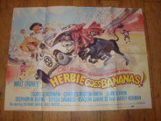 """HERBIE GOES BANANAS (1980) UK Quad (30"""" x 40"""") Folded"""