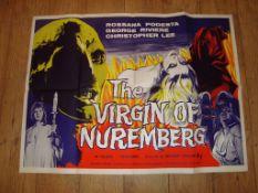 "THE VIRGIN OF NUREMBURG (1964) UK Quad Re-Release Film Poster (30"" x 40"") Folded"