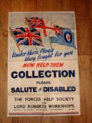 THE FORCES HELP SOCIETY - Collection Poster for Disabled Forces