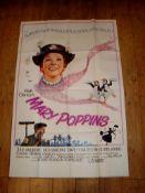 """MARY POPPINS (1964) UK 60"""" X 40"""" Folded"""