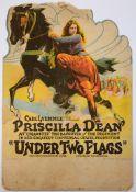 UNDER TWO FLAGS (1922) Table Top standee, Style B, Artwork (PriSci-Filla Dean, James Kirkwood & John