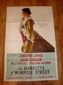 "THE BARRETTS OF WIMPOLE STREET (1957 ) (John Gielgud and Virginia McKenna) - US One Sheet (27"" x"
