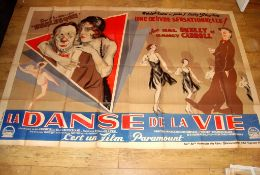 "THE DANCE OF LIFE (1929) aka La Danse de la Vie. French Double Grande (62¾"" x 94½""). Folded and in"