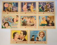 ONLY YESTERDAY (1933)Set of 8 Lobby Cards (Margaret Sullavan & John Boles) (8) 11 x 14in. (28 x
