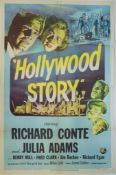"HOLLYWOOD STORY (1951) US One Sheet (27"" x 41"") Thriller (Richard Conte, Julie Adams, Richard Egan &"