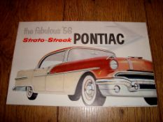 AUTOMOBILIA - A fold out brocure for the 1956 Pontiac Strato-Streak