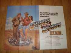 """SMOKEY AND THE BANDIT RIDE AGAIN (1980) UK Quad Film Poster (30"""" x 40"""") Folded"""