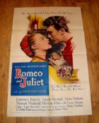 """ROMEO AND JULIET (1955) US One Sheet (27"""" x 41"""") - folded"""