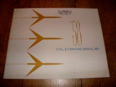 AUTOMOBILIA - A 1958 Brochure for Oldsmobile