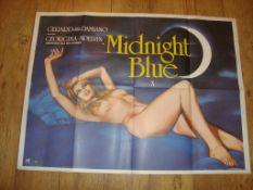 "MIDNIGHT BLUE (1980) UK Quad (30"" x 40"") with Chantrell Artwork. Folded Film Poster"