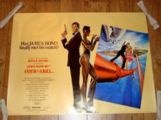 """A VIEW TO A KILL (1985) Main Art Style A UK Quad Film Poster (30"""" x 40"""") Rolled"""