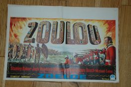 "ZULU (1963) Belgium Affiche (14 1/4"" x 21 1/4"") Spectacular artwork for this Stanley Baker"