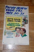 "THE PRIVATE LIVES OF ELIZABETH AND ESSEX (1939) US Window Card (22"" x 14"") (14"" x 22"") Errol Flynn"
