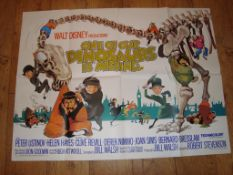 """ONE OF OUR DINOSAURS IS MISSING (1975) UK Quad Film Poster (30"""" x 40) Folded"""