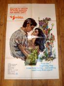"THE SANDPIPER (1965) (Elizabeth Taylor and Richard Burton) - US One Sheet (27"" x 41"") Folded"