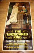 """HIS ROYAL HIGHNESS (1918) aka The Uncrowned King. British Three Sheet (41"""" x 85"""") 1920's Re-"""