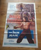 """THE IRON MASK (1929) US One Sheet (27"""" x 41"""") 1953 Re-release. Spectacular art of Douglas"""