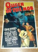 """QUEEN OF THE MOB (1940) US One Sheet (27"""" x 41"""") Style B. Folded with some edge wear."""