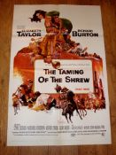 """THE TAMING OF THE SHREW (1967) (Elizabeth Taylor and Richard Burton) - US One Sheet (27"""" x 41"""")"""