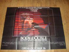 "BODY DOUBLE (1984 ) US 60"" x 40"" Folded"