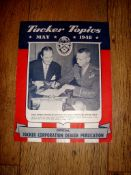 AUTOMOBILIA - A rare copy of Tucker Topics from May 1948. Tucker Automobilies produced only 51