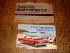 AUTOMOBILIA - A 1963 Chevrolet Owners Guide and envelope