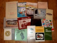 AUTOMOBILIA - A group of Pamphlets and Books dating from 1940s to 80s as pictured