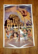 """MONTY PYTHON'S THE MEANING OF LIFE (1983) US One Sheet (27"""" x 41"""") Folded"""