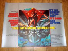 """THE SPY WHO LOVED ME (1977) Main art UK Quad Film Poster (30"""" x 40"""") Rolled, previously folded"""