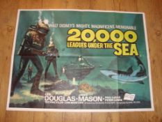 "20,000 LEAGUES UNDER THE SEA (1955) 1969 Re-Release UK Quad (30"" x 40"") Folded Film Poster"