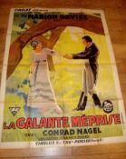 "QUALITY STREET (1927) aka La Galante Méprise. French Grande (45½"" x 62"") (possibly a later re-"