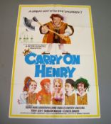 """CARRY ON HENRY (1971) UK One Sheet (27"""" x 40"""") featuring art by Arnoldo Putzo. Folded"""