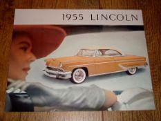 AUTOMOBILIA - A 1955 Brochure for Lincoln Automobiles