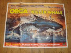 "ORCA (1977) UK Quad (30"" x 40"") Folded"