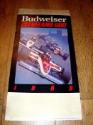 AUTOMOBILIA - A Budweiser Cleveland 500 1983 table top standee