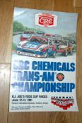 CRC CHEMICALS TRANS-AM (1981)Championship Advertising Poster. Rolled