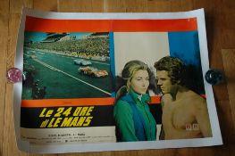 """LE MANS (1971) aka 'Le 24 Ore di Le Mans' Italian Photobusta Poster (18"""" x 25 3/4"""") featuring Steve"""