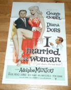 """I MARRIED A WOMAN (1958) US One Sheet (27"""" x 41"""") Superb artwork by Reynold Brown of sexy Diana"""