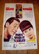 """PARIS WHEN IT SIZZLES (1964 ) (Audrey Hepburn) - US One Sheet (27"""" x 41"""") Folded"""
