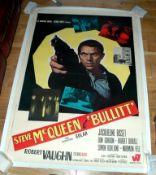 "BULLITT (1969) Italian 2 Fogli (39"" x 55""). Italian first release for this Steve McQueen classic."